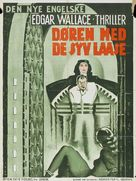 The Door with Seven Locks - Danish Movie Poster (xs thumbnail)