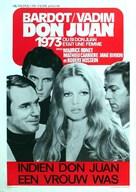 Don Juan ou Si Don Juan était une femme... - Belgian Movie Poster (xs thumbnail)