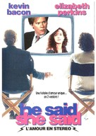 He Said, She Said - French DVD cover (xs thumbnail)
