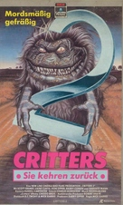Critters 2: The Main Course - German VHS movie cover (xs thumbnail)