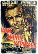 Gone with the Wind - German Movie Poster (xs thumbnail)