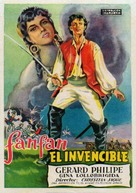 Fanfan la Tulipe - Spanish Movie Poster (xs thumbnail)