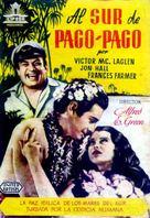 South of Pago Pago - Spanish Movie Poster (xs thumbnail)