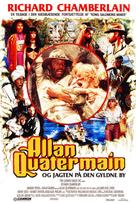 Allan Quatermain and the Lost City of Gold - Danish Movie Poster (xs thumbnail)