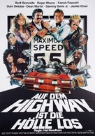 The Cannonball Run - German Movie Poster (xs thumbnail)
