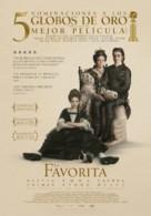 The Favourite - Spanish Movie Poster (xs thumbnail)