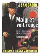 Maigret voit rouge - Belgian Movie Poster (xs thumbnail)