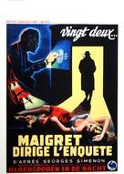 Maigret dirige l'enquête - Belgian Movie Poster (xs thumbnail)