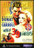 The 39 Steps - Australian DVD cover (xs thumbnail)