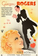 The Gay Divorcee - Swedish Movie Poster (xs thumbnail)