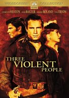 Three Violent People - DVD cover (xs thumbnail)