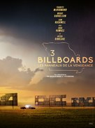 Three Billboards Outside Ebbing, Missouri - French Movie Poster (xs thumbnail)