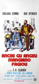 Anche Gli Angeli Mangiano Fagioli - Italian Movie Poster (xs thumbnail)