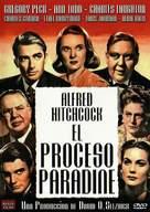 The Paradine Case - Spanish DVD cover (xs thumbnail)