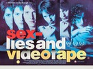Sex, Lies, and Videotape - British Movie Poster (xs thumbnail)