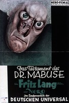 Das Testament des Dr. Mabuse - German Movie Poster (xs thumbnail)
