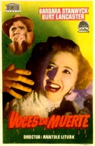 Sorry, Wrong Number - Spanish Movie Poster (xs thumbnail)