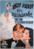 Andy Hardy Gets Spring Fever - Swedish Movie Poster (xs thumbnail)