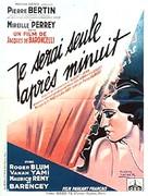 Je serai seule après minuit - French Movie Poster (xs thumbnail)