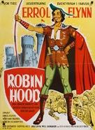 The Adventures of Robin Hood - Danish Movie Poster (xs thumbnail)