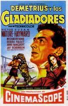 Demetrius and the Gladiators - Spanish Movie Poster (xs thumbnail)