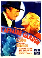 The Garden Murder Case - French Movie Poster (xs thumbnail)