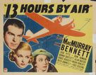 Thirteen Hours by Air - Movie Poster (xs thumbnail)