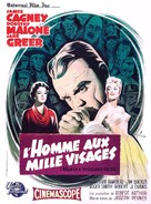 Man of a Thousand Faces - French Movie Poster (xs thumbnail)