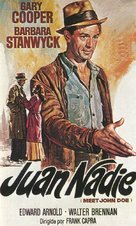 Meet John Doe - Spanish Movie Poster (xs thumbnail)