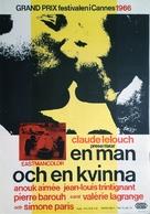 Un homme et une femme - Swedish Movie Poster (xs thumbnail)