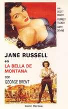Montana Belle - Spanish Movie Poster (xs thumbnail)