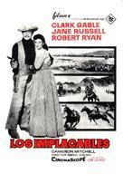 The Tall Men - Spanish Movie Poster (xs thumbnail)