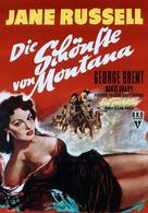 Montana Belle - German Movie Poster (xs thumbnail)