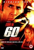 Gone In 60 Seconds - British DVD movie cover (xs thumbnail)