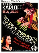The Invisible Ray - French Movie Poster (xs thumbnail)