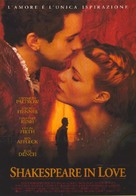 Shakespeare In Love - Italian Movie Poster (xs thumbnail)