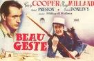 Beau Geste - Spanish Movie Poster (xs thumbnail)