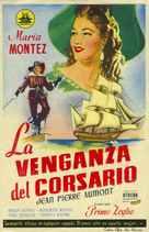 Vendetta del corsaro, La - Spanish Movie Poster (xs thumbnail)