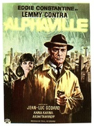 Alphaville, une étrange aventure de Lemmy Caution - Spanish Movie Poster (xs thumbnail)