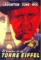 The Man on the Eiffel Tower - Spanish Movie Poster (xs thumbnail)