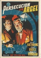 Pursuit to Algiers - Spanish Movie Poster (xs thumbnail)