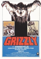 Grizzly - Finnish VHS movie cover (xs thumbnail)