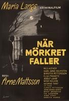 När mörkret faller - Swedish Movie Poster (xs thumbnail)