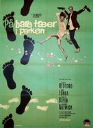 Barefoot in the Park - Danish Movie Poster (xs thumbnail)