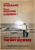 The Way We Were - Danish Movie Poster (xs thumbnail)
