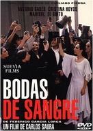 Bodas de sangre - Spanish DVD cover (xs thumbnail)