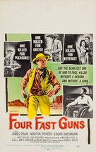 Four Fast Guns - Movie Poster (xs thumbnail)
