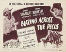 Blazing Across the Pecos - Movie Poster (xs thumbnail)
