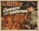 The Cowboy from Sundown - Movie Poster (xs thumbnail)