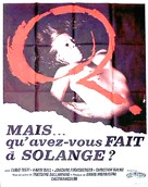 Cosa avete fatto a Solange? - French Movie Poster (xs thumbnail)
